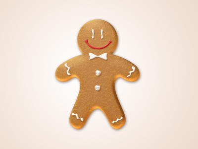 Gingerbread Man Icon (Free PSD)