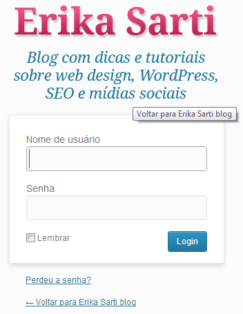 Tela de login personalizada no WordPress